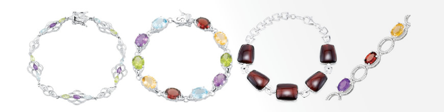 Colored Stone Bracelets